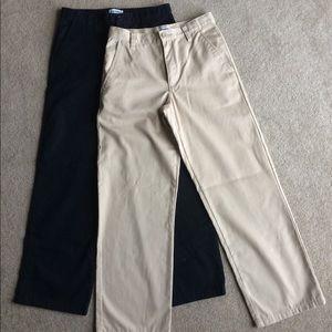 Other - Old Navy Khaki and Black Boys Size 16 Pants